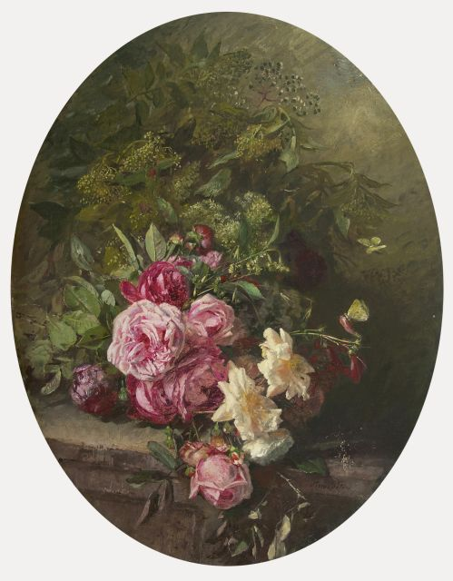 Anna Peters | A still life with roses, oil on canvas, 91.0 x 69.5 cm, signed l.r.