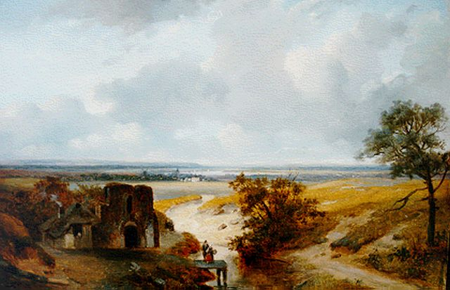 Nicolaas Johannes Roosenboom | A panoramic summer landscape, oil on panel, 34.0 x 49.5 cm, signed l.l.