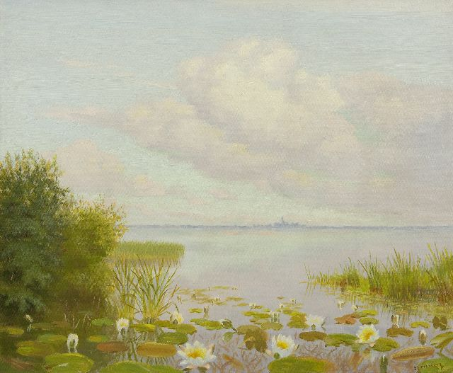 Dirk Smorenberg | Waterlillies in the  Loosdrechtse Plassen, oil on canvas, 49.5 x 60.3 cm, signed l.r.