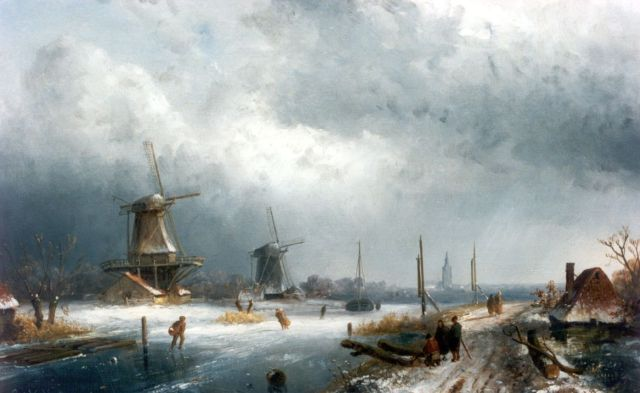 Charles Leickert | A winter landscape, oil on panel, 28.7 x 42.8 cm, signed l.l.