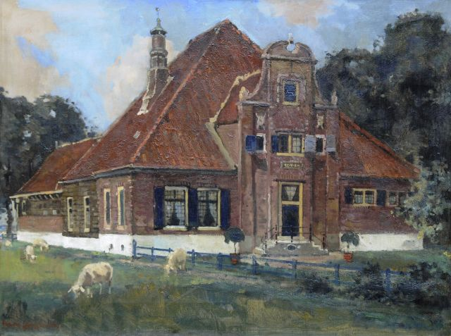 Frans Langeveld | The farm 'De Eenhoorn' in Middenbeemster, oil on canvas, 60.0 x 80.2 cm, signed l.l.
