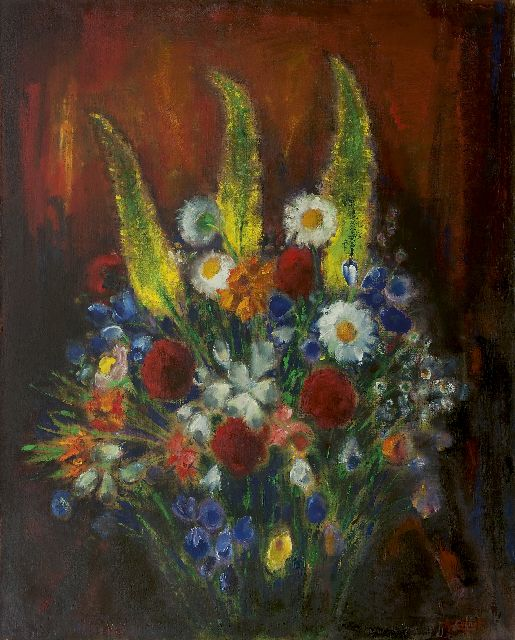 Arnout Colnot | Flower still life, oil on canvas, 100.0 x 79.8 cm, signed l.r.