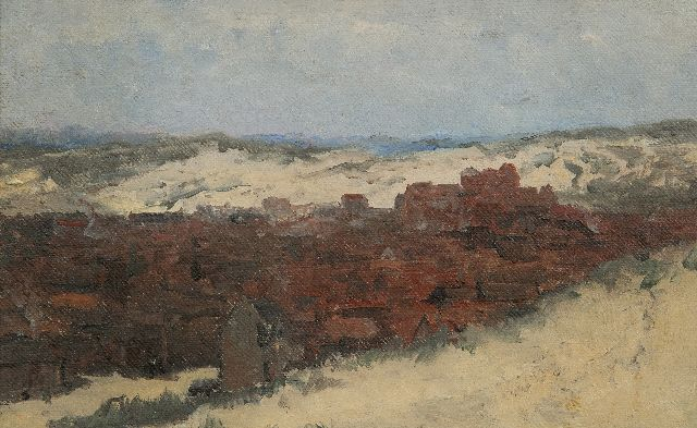 Hendrik Willem Mesdag | Sketch of Scheveningen - Study for Panorama Mesdag (not for sale), oil on canvas laid down on panel, 20.0 x 31.5 cm, painted  ca. 1880