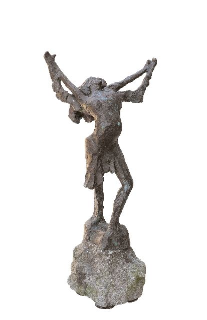 Jits Bakker | Dancing couple, bronze, 52.0 cm, signed  on the base