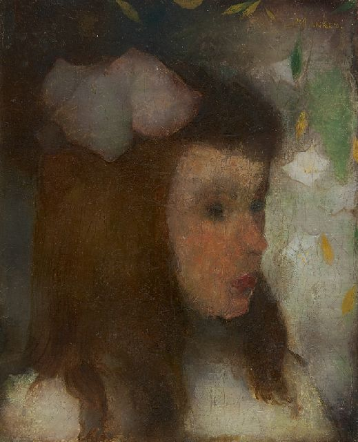 Jan Mankes | Portrait of a young girl, oil on canvas, 20.0 x 16.3 cm, signed u.r. and painted ca. 1911