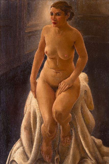 Harmen Meurs | Seated nude, oil on canvas, 116.6 x 81.6 cm, signed l.r. and dated '33