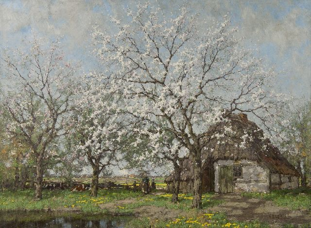 Arnold Marc Gorter | Blossoming apple and pear trees, oil on canvas, 100.5 x 135.0 cm, signed l.r. and painted ca. 1915