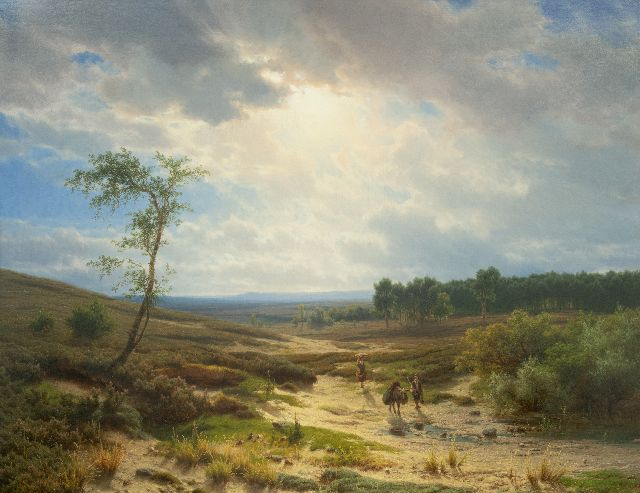 Cornelis Lieste | Heathland near Oosterbeek, oil on panel, 70.9 x 95.2 cm, signed l.l. and painted ca. 1855