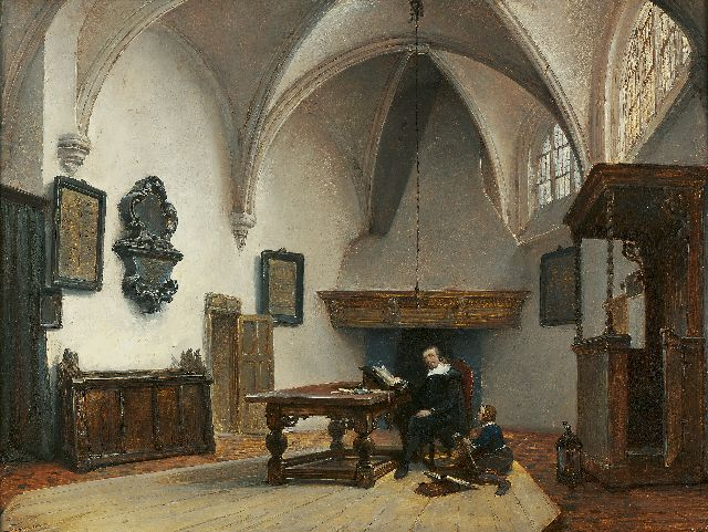 Johannes Bosboom | The Grote Kerk, Breda, Holland, oil on panel, 37.5 x 45.5 cm, signed l.r. and painted ca. 1850