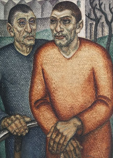 Jan Franken | The hard workers, oil on canvas, 69.5 x 95.1 cm, signed l.r. and dated '28