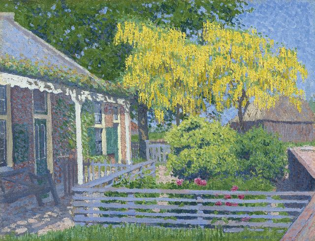 Hart Nibbrig F.  | Laburnum, oil on canvas 31.7 x 40.1 cm, signed l.r. and dated 1902