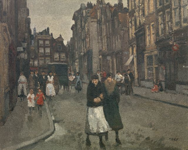 Cor Noltee | A town view, The Hague, oil on canvas, 80.8 x 100.5 cm, signed l.r.