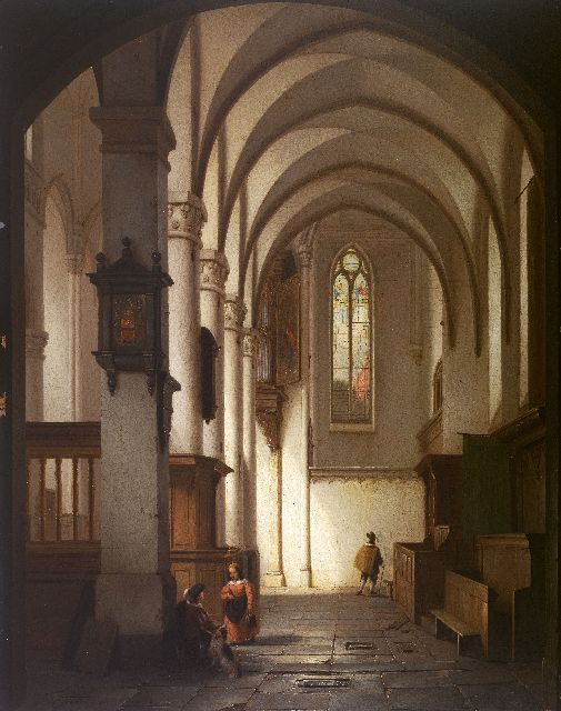 George Gillis Haanen | Interior of the Domchurch, Utrecht, oil on panel, 59.7 x 47.0 cm, signed l.l. and dated 1840