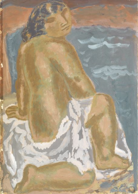 Leo Gestel | Woman on the beach, gouache on paper, 72.7 x 51.9 cm, painted ca. 1930-1932