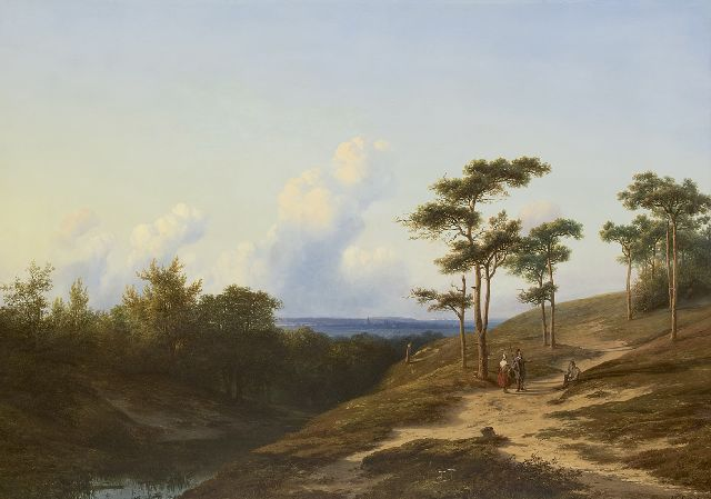 Cornelis Lieste | A view of the Rijn valley near Oosterbeek, oil on panel, 75.5 x 101.7 cm, signed l.r. and painted ca. 1853-1861