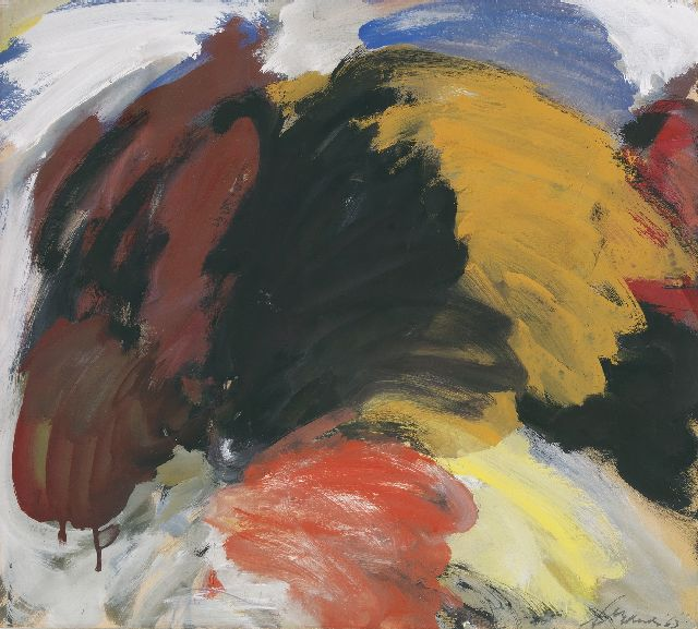 Eugène Brands | Free movement, gouache on board, 50.0 x 55.0 cm, signed l.r. and dated '63
