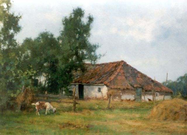 Jan Holtrup | A farm in a landscape, Friesland, oil on canvas, 30.3 x 40.0 cm, signed l.r.