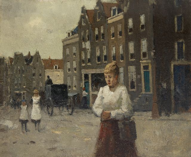 Evert Jan Ligtelijn | A view in Haarlem, oil on canvas, 51.1 x 60.4 cm