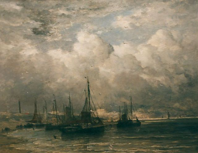 Hendrik Willem Mesdag | Stormy weather, oil on canvas, 98.0 x 124.0 cm, dated 1896