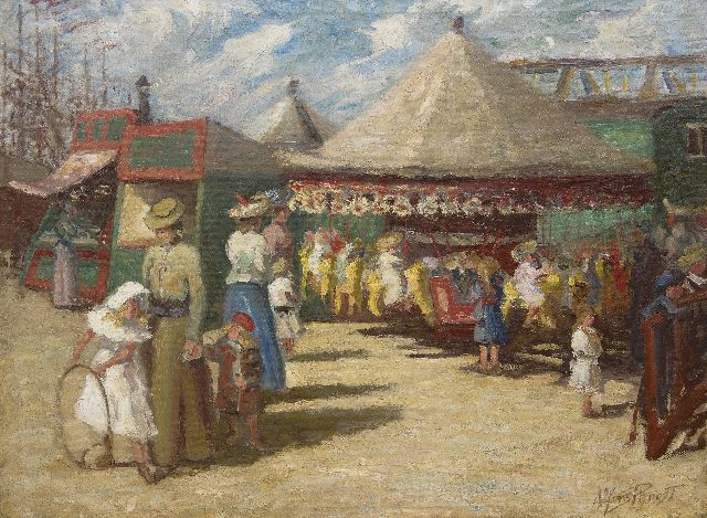 Alfons Proost | At the fair, oil on canvas, 59.5 x 79.9 cm, signed l.r. and painted ca. 1905-1906