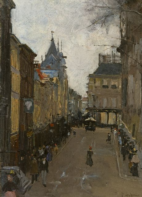 Floris Arntzenius | The Lange Poten, The Hague, oil on canvas, 50.0 x 37.0 cm, signed l.r.