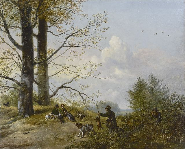 Pieter Gerardus van Os | After the hunt, oil on canvas, 79.9 x 98.5 cm, signed l.l. and dated 1818