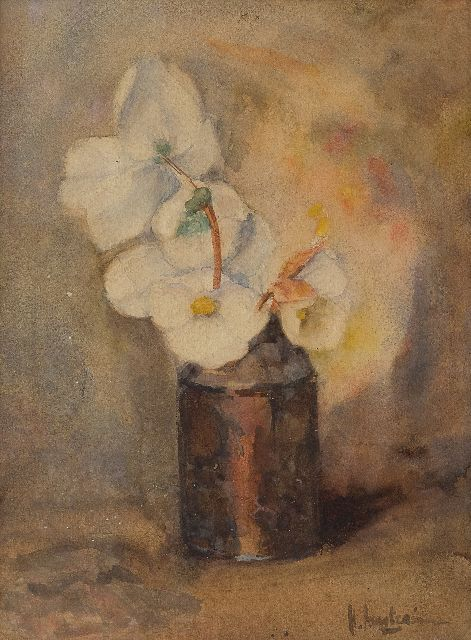 Floris Arntzenius | Poinsettias in a vase, watercolour on paper, 28.3 x 21.2 cm, signed l.r.