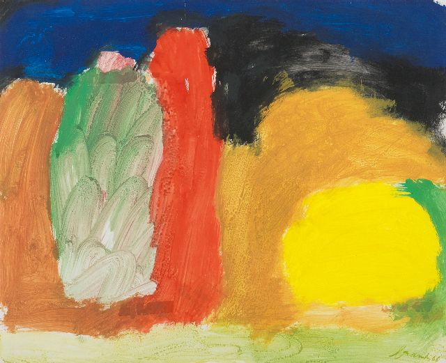 Eugène Brands | Park by night, gouache on paper, 43.2 x 53.4 cm, signed l.r. and dated '66