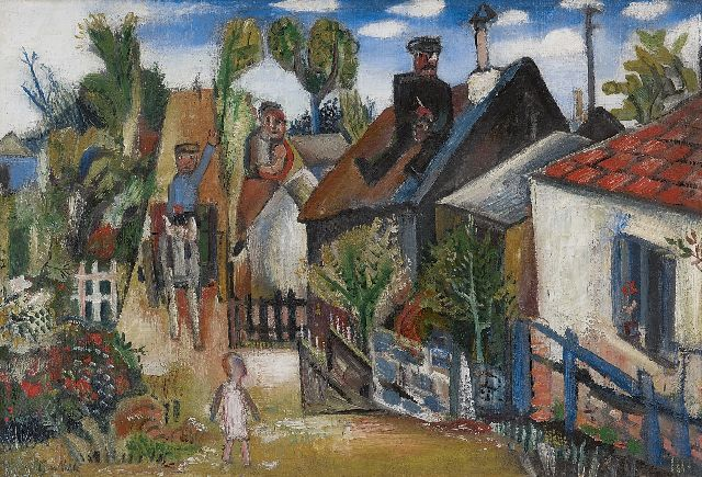 Velde G. van | Village, oil on canvas 45.4 x 66.2 cm, signed l.l. and on the reverse and painted ca. 1925-1928