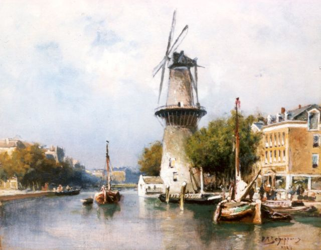 Piet Schipperus | View of the Coolvest, Rotterdam, 24.2 x 28.2 cm, signed l.r. and dated 1824