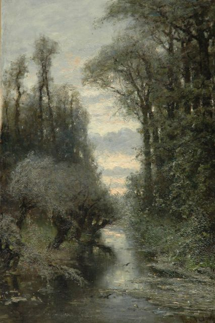 Louis Apol | Forest, oil on canvas, 90.5 x 60.1 cm, signed l.r.