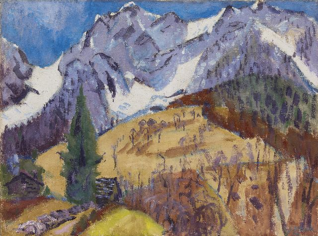 Jan Altink | The Gridone massif, Switzerland, oil on canvas, 75.0 x 100.4 cm, signed l.r. and dated '62