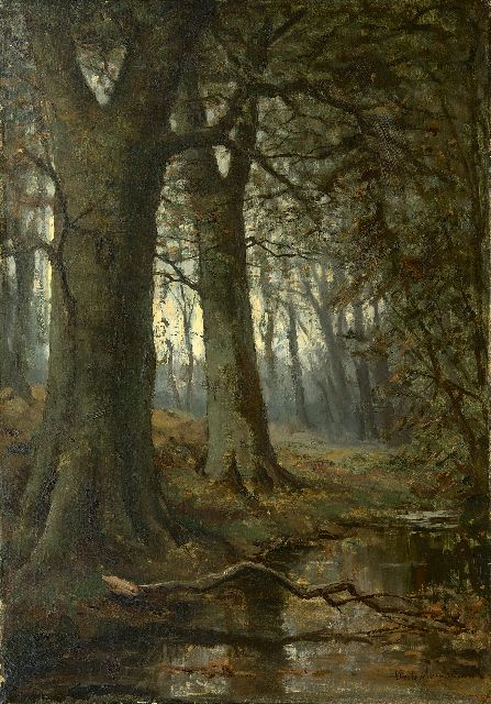 Frits Mondriaan | Forest view with a stream, oil on canvas, 69.2 x 49.0 cm, signed l.r.