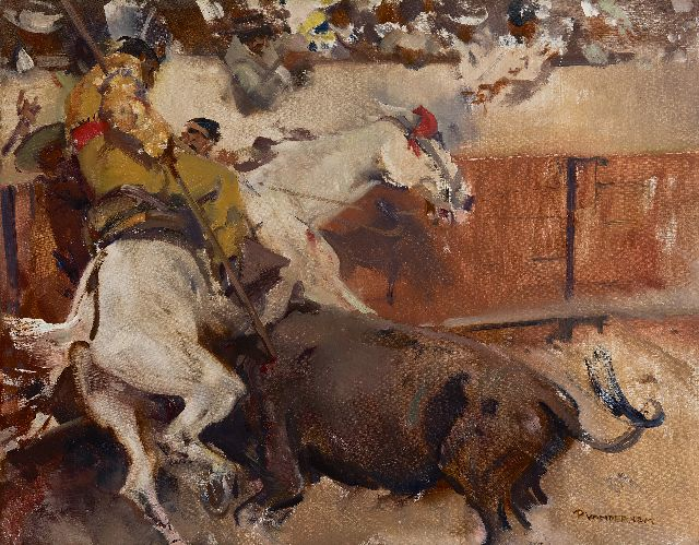Piet van der Hem | A bullfight, Madrid, oil on canvas, 50.3 x 65.2 cm, signed l.r. and painted ca. 1914