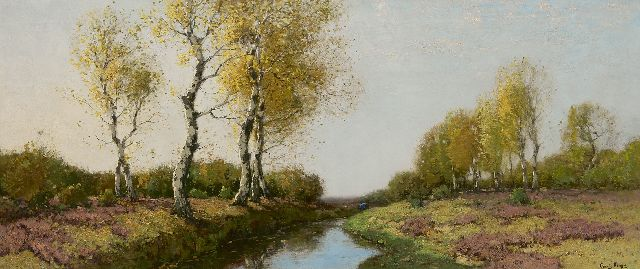 Cornelis Kuijpers | Heath with birches, oil on canvas, 57.3 x 133.2 cm, signed l.r.