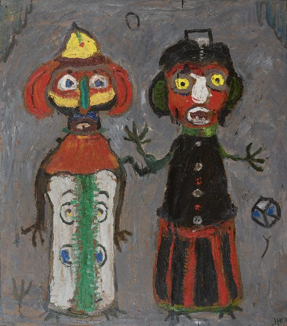 Harm Kamerlingh Onnes | Carnival, oil on board, 44.2 x 39.9 cm, signed l.r. with monogram and dated '60