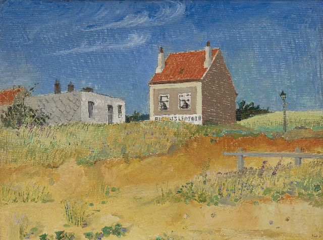 Harm Kamerlingh Onnes | A house near Brussels, oil on canvas laid down on panel, 34.4 x 45.5 cm, signed l.r. with monogram and dated '38