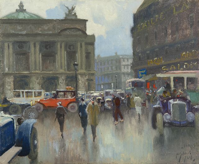 Anthonie Pieter Schotel | A view of Paris with the Opéra Garnier, oil on canvas, 46.2 x 56.3 cm, signed l.r. and dated '24