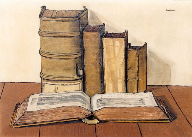Jo Lodeizen | Books, oil on canvas, 40.2 x 56.5 cm, signed u.r. and dated 1927