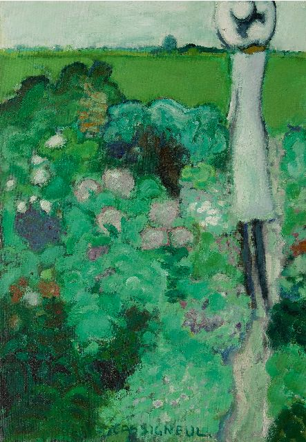 Cassigneul J.P.  | Dans le pré, oil on canvas 92.1 x 64.9 cm, signed l.c. and painted in 1964