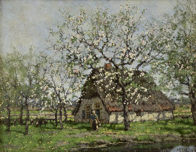 Arnold Marc Gorter | Spring, oil on canvas, 33.0 x 42.3 cm, signed l.r.