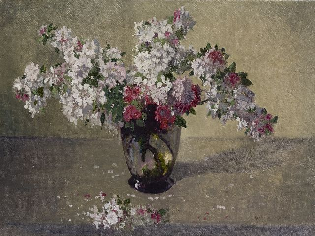 Os-Delhez (Hendrik van Os) H. van | Apple blossom, oil on canvas 59.9 x 79.8 cm, signed l.r.