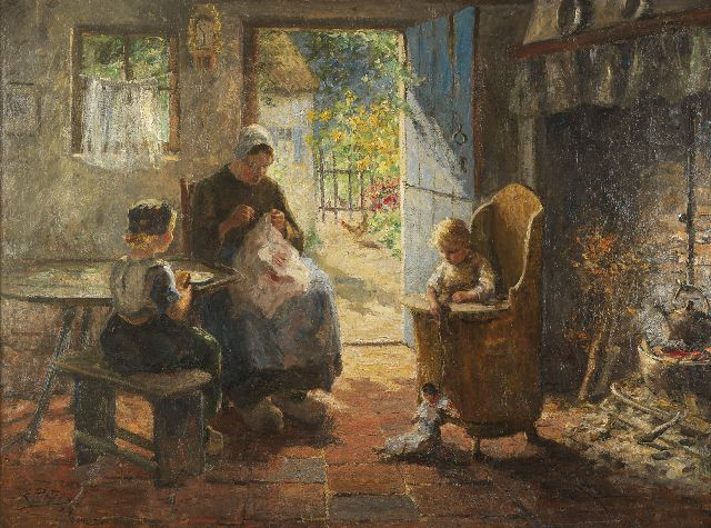 Evert Pieters | A mother's bliss, oil on canvas, 121.5 x 161.0 cm, signed l.l. and dated '24