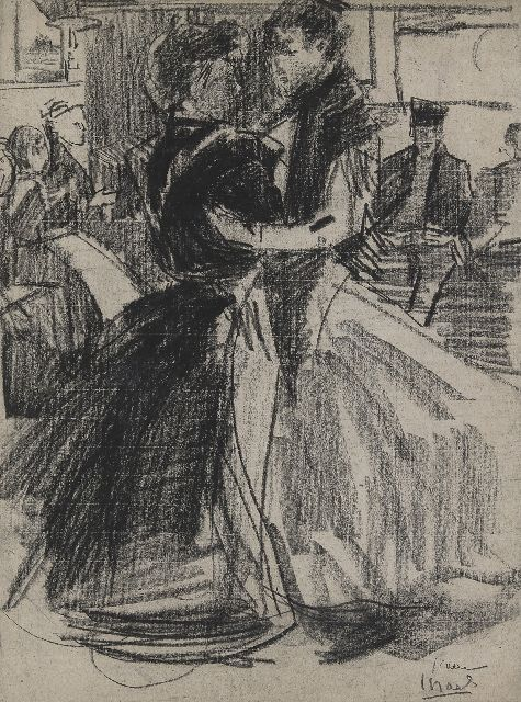Israels I.L.  | Dancing women - Amsterdam, black chalk on paper, 69.0 x 51.0 cm, signed l.r. and executed ca. 1892-1893