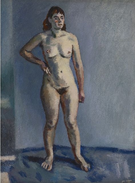 Jan Wiegers | Standing nude, oil on canvas, 61.3 x 46.3 cm, signed l.r. and painted in the 1940s