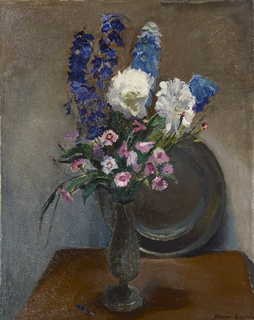 Harrie Kuijten | A vase with summer flowers, oil on canvas, 82.6 x 65.5 cm, signed l.r.