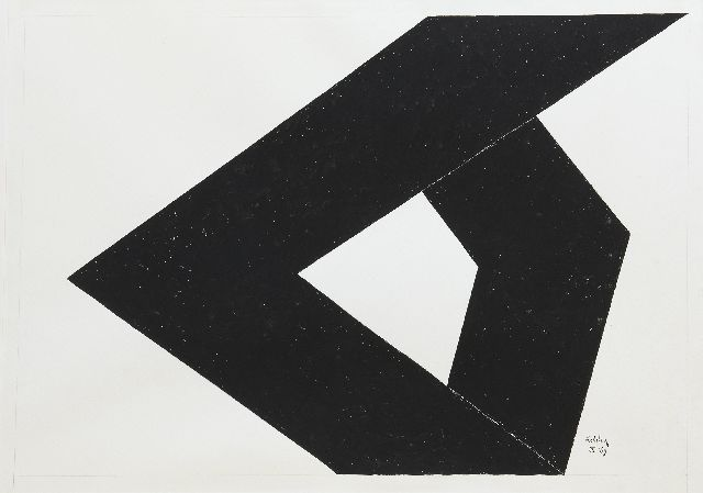 Toon Kelder | Form, gouache on paper, 67.0 x 94.7 cm, signed l.r. and dated IX '69