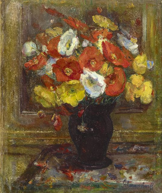 Hubert Glansdorff | Poppies, oil on canvas, 50.8 x 43.1 cm, signed l.r.