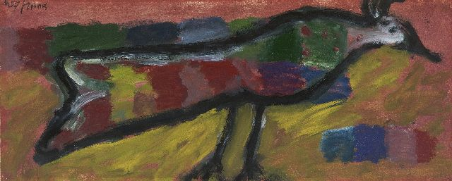 Eugène Brands | Bird, oil on paper, 15.0 x 37.0 cm, signed u.l. and dated 4.57