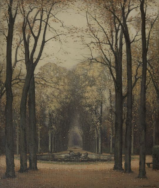 Jan Bogaerts | Autumn at Versailles park, oil on canvas, 65.4 x 55.8 cm, signed l.r. and dated 1913